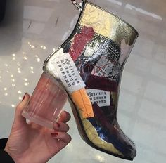 Buy your ankle boots Maison Martin Margiela on Vestiaire Collective, the luxury consignment store online. Second-hand Ankle boots Maison Martin Margiela Multicolour in Plastic available. Sock Shoes, Cute Shoes, Me Too Shoes, Shoe Boots, Shoes Heels, Ankle Boots, Pumps, Funky Shoes, Mode Ootd