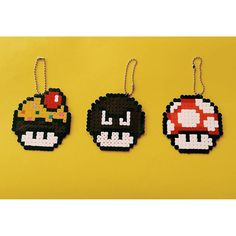Mushrooms perler beads by pysslart