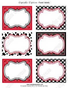 Cowboy Birthday Party labels western PRINTABLE Food Labels red black horse boots Display cards INS Party Food Label Template, Party Food Labels, Label Templates, Cowboy Birthday Party, Cowgirl Party, Birthday Parties, Printable Labels, Party Printables, Cowgirl Decorations