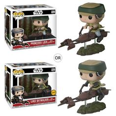 Star Wars Leia on Speeder Bike Deluxe Pop! Vinyl from Funko. Perfect for any Company_Funko Product Type_Pop! Pop Vinyl Figures, Funko Pop Figures, Star Wars Identities, Geeks, Jouet Star Wars, Starwars, Funko Pop Dolls, Theme Star Wars, Star Wars Merchandise