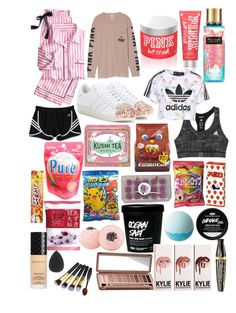 """Shopping Haul!"" by eliza-winstanley ❤ liked on Polyvore featuring Victoria's Secret, adidas Originals, adidas, Kusmi Tea, Gucci, Urban Decay and Bourjois"