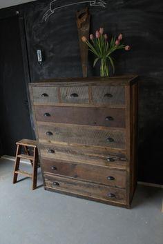 repurposed pallet dresser