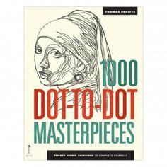 The 1000 Dot-To-Dot Masterpieces Book: This incredible dot-to-dot book contains twenty iconic dot-to-dot artworks ready for completion. Hokusai, Vameer, Kahlo, and Picasso are among the famous artists included in this unique book designed by Thomas Pavitte, providing hours of fun.