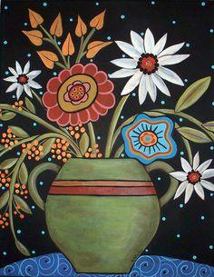 Daisies Vase by karlagerard...