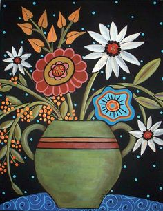 Daisies Vase by karlagerard, via Flickr