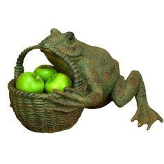 Frog Resin Statue Planter