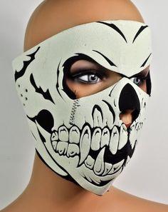 Dysfunctional Doll - Masks Skeleton Motorcycle Full Face Mask Horror Halloween Cosplay Anime Biker Neoprene : Masks
