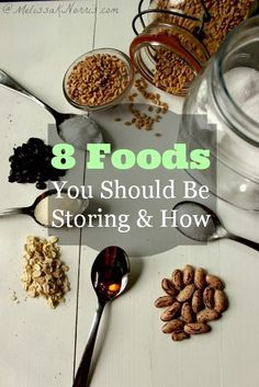 8 Foods You Should Be Storing and How. Having a food storage is insurance against hard times. These are items every household should have on hand for winter, especially for preparedness. Read now to make sure your food storage is in shape Emergency Preparation, Emergency Food, Survival Food, Survival Prepping, Emergency Preparedness, Survival Skills, Survival Supplies, Emergency Supplies, Survival Stuff