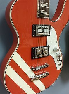 Musicvox Spaceranger Custom 1 Of 4 Made Competition Red Racing Stripe