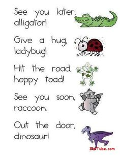 """Cute!!!  And they didn't even include """"After a while, crocodile."""""""
