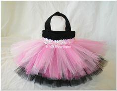Tutu Party Bags | ... Pink and Black Rock N Roll Mini Tutu Favor Bags - Set of 4 Party Bags
