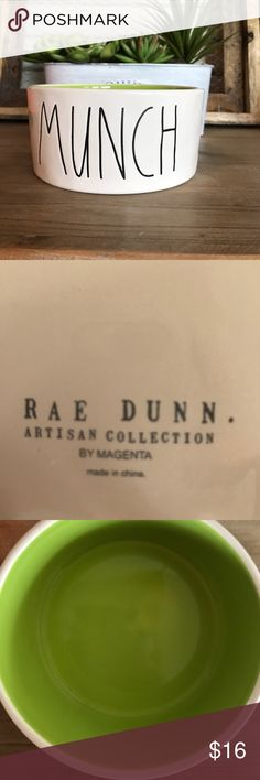 """Rae Dunn Artisan Collection """"MUNCH"""" pet dish Rae Dunn Artisan Collection """"MUNCH"""" pet dish. New/ Never used. Other"""