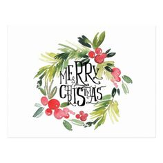 Merry Christmas Quotes, Happy Christmas Funny Sayings & Xmas Cards wreath watercolor. Noel Christmas, All Things Christmas, Winter Christmas, Vintage Christmas, Christmas Wreaths, Christmas Crafts, Christmas Decorations, Christmas Clipart, Christmas Quotes