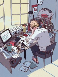 summer weather byy Anna Pan Art Reference, Design Reference, Weather Art, Office Setup, Office Ideas, Character Illustration, Illustration Art Drawing, Digital Illustration, Crazy Art