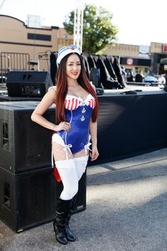 Go-go Dancer at Hot Import Nights Los Angeles in San Pedro  #hotimportnights #tbt