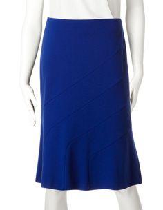 Lapis Diagonal Seam Flippy Skirt, Lapis Blue