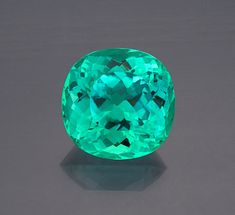 Paraiba-type tourmaline from Mozambique, 70.74 carats, cushion cut, 25.05 x 24.68 x 18.38 mm. / Pala International
