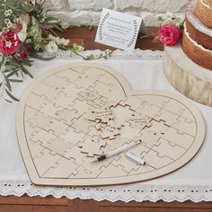 Wedding jigsaw personalised Puzzle Guest book including free Sign made from wood Wedding Games, Wedding Book, Wedding Favours, Boho Wedding, Wedding Planning, Wedding Day, Wedding Wishes, Puzzle Wedding, Hessian Wedding