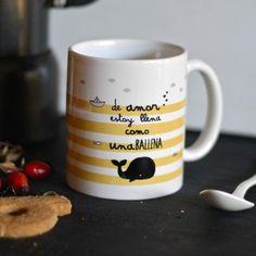 Una taza para los que estamos llenos de amor por @El Tarro de Ideas #mug #tazas #hogar DaWanda.es