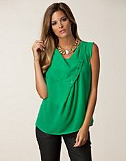 Toppar - Only - kvinna - online Chiffon Tops, Tunic Tops, Mint, Women, Fashion, Fashion Styles, Fashion Illustrations, Trendy Fashion, Peppermint