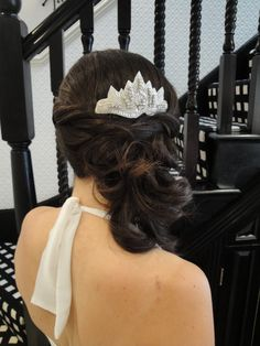Bridal Hair Styled To The Side  www.weddingmakeupandhairstyling.co.uk
