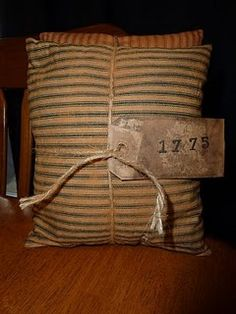 """cute and the blue and red goes with """"patriotic'. Primitive Country Homes, Primitive Gatherings, Primitive Antiques, Primitive Crafts, Primitive Stitchery, Diy Pillows, Pillow Ideas, Cushions, Throw Pillows"""