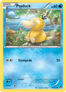 Psyduck - XY - BREAKpoint, Pokemon - Online Gaming Store for Cards, Miniatures, Singles, Packs & Booster Boxes Nintendo Pokemon, My Pokemon, Cool Pokemon, Pokemon Games, Pikachu, Pokemon Online, Pokemon Collection, Deck Design, Letters