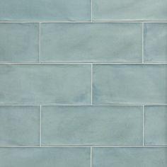 Vintage Verde Ceramic Tile - 8 x 20 - 100415017 Ceramic Floor Tiles, Bathroom Floor Tiles, Wall Tiles, Ceramic Flooring, Tile Flooring, Mosaic Tiles, Blue Glass Tile, Polished Porcelain Tiles, Wet Rooms