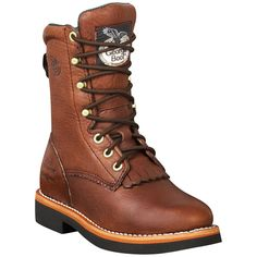 Women's Georgia® Lacer Walnut Work Boots
