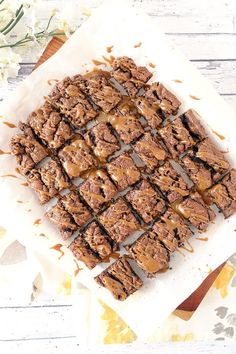 Salted Caramel Double Choc Brownies - the perfect weekend dessert!