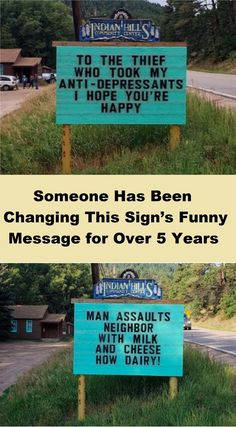 Someone Has Been Changing This Sign's Funny Message for Over 5 Years 30 Humorous Memes Of The Random Sort Top 33 Hilarious Humor Memes Puns Jokes, Funny Puns, Dad Jokes, Funny Cartoons, Funny Texts, Funny Sarcastic, Funny Humor, Funny Memes For Kids, Yoda Funny
