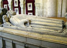 The tomb of King Athelstan in Malmesbury Abbey, Malmesbury, England. There is nothing in the tomb beneath the statue, the relics of the king having been lost in the Dissolution of the Monasteries in 1539. Perhaps the remains were destroyed by the Kings Commissioners or they were hidden before the Commissioners arrived to close down the Abbey.