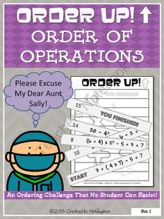 Order Up! Order of Operations from MrHughes on TeachersNotebook.com (7 pages)