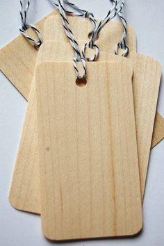 balsa wood tags