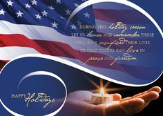 Peace And Freedom - Holiday Greeting Cards- Honor and remember those who have sacrificed their lives by sending this patriotic holiday card to family and colleagues. The gold foil sentiment on the red, white and blue flag design is striking on this white card.The Office Gal