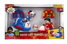 Get ready for a bumping good time with the Ryan's world bumper cars twin pack remote control cars from Jada Toys. Kids Ride On Toys, Toys For Boys, Pallet Tree Houses, Ryan Toysreview, Jurassic Park Jeep, Frozen Kids, Goldilocks And The Three Bears, Epic Games Fortnite, Jada Toys