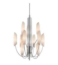 Kichler Lighting Stella 12 Light Chandelier in Chrome 42215CH #lightingnewyork #lny #lighting Foyer