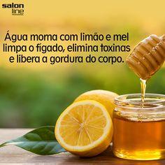 água morna com limão e mel limpa o fígado, elimina toxinas e libera a gordura do corpo. Detox Drinks, Healthy Drinks, Healthy Tips, Healthy Recipes, Health Diet, Health And Wellness, Bebidas Detox, Healthy Style, Natural Medicine