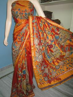 Beautiful Kalamkari pure silk sarees  https://www.facebook.com/photo.php?fbid=1415217165389421&set=a.1415216612056143.1073741829.100007034524124&type=1&theater