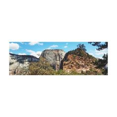 Scout Lookout Zion National Park Utah Canvas Print