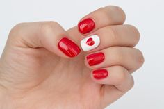 Canadian Olympic Nails Tutorial!   Red and white nails :)
