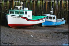 Early morning low tide at Hall's Harbour, Nova Scotia
