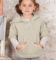 Modèle pull enfant à capuche - Modèles tricot enfant - Phildar