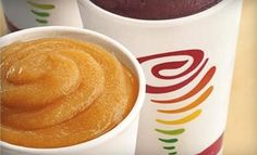 All of the jamba juice smoothie recipes. Thanks pinned by dani Yummy Drinks, Healthy Drinks, Yummy Food, Healthy Recipes, Healthy Foods, Blender Recipes, Yummy Yummy, Jamba Juice Recipes, Smoothie Recipes