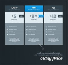 Crazy pricing table