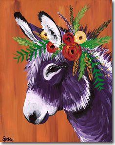 Spring Whitaker, Rosie, donkey, Skyline, print, printing, fine art, giclee