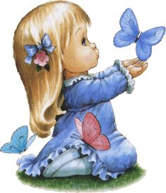 fille agenouillée avec un papillon 42 Clipart Baby, Cute Images, Cute Pictures, Baby Drawing, Sarah Kay, Angel Pictures, Holly Hobbie, Digi Stamps, Cute Drawings
