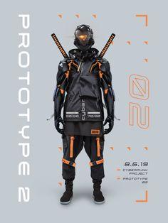 Cyberpunk project is a cyberpunk character design by mixing other stuff into a new work. Mode Cyberpunk, Cyberpunk Clothes, Cyberpunk Aesthetic, Cyberpunk Fashion, Fantasy Character Design, Character Design Inspiration, Character Concept, Character Art, Urban Samurai