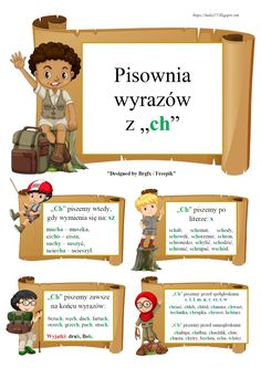 BLOG EDUKACYJNY DLA DZIECI Learn Polish, Teacher Morale, Polish Language, Cute Borders, Gernal Knowledge, Montessori Education, Picture Blog, School Notes, Aa School