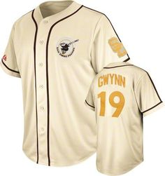 Tony Gwynn San Diego Padres Natural Cooperstown Tradition Jersey